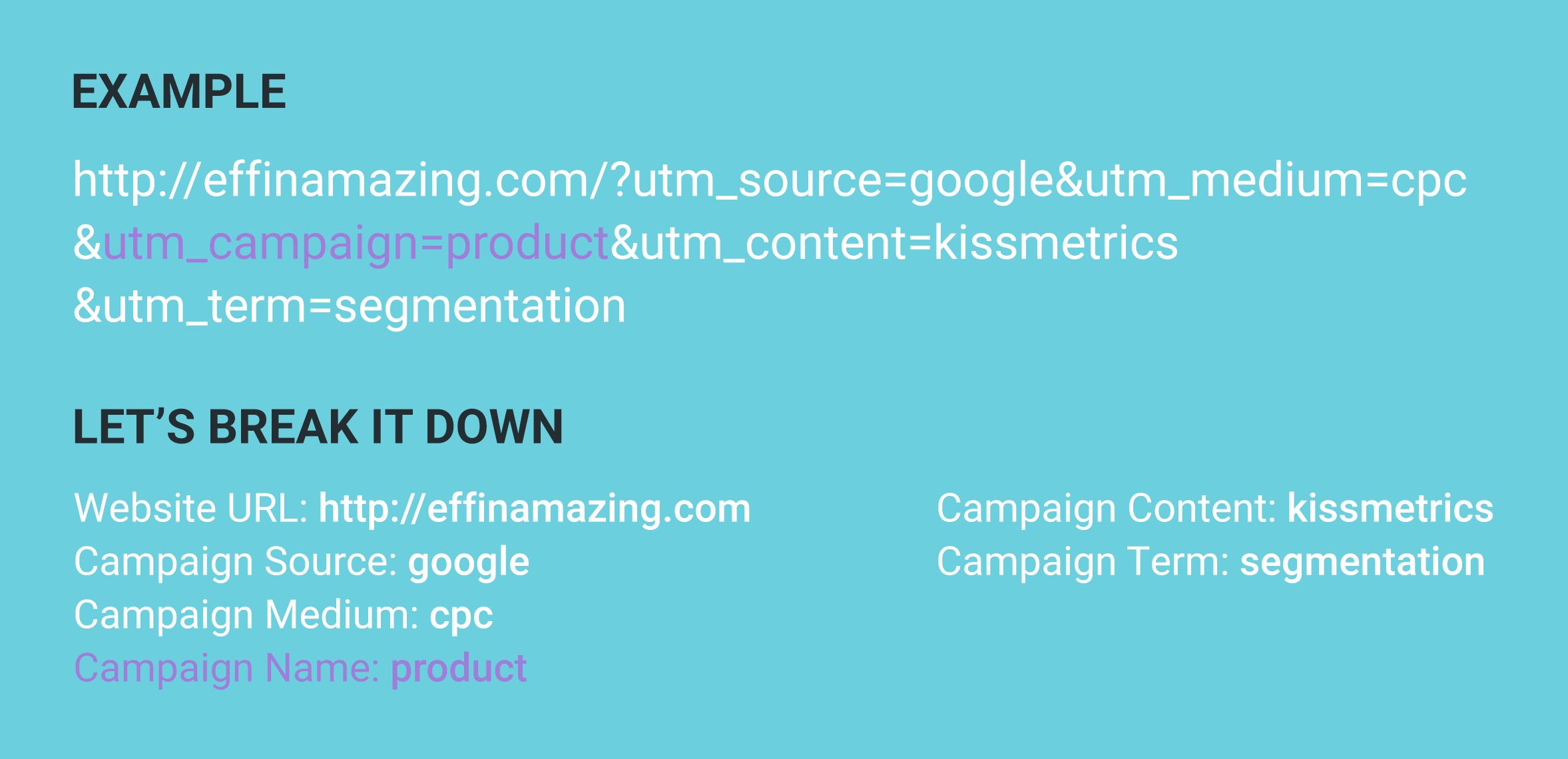 UTM campaign parameter example