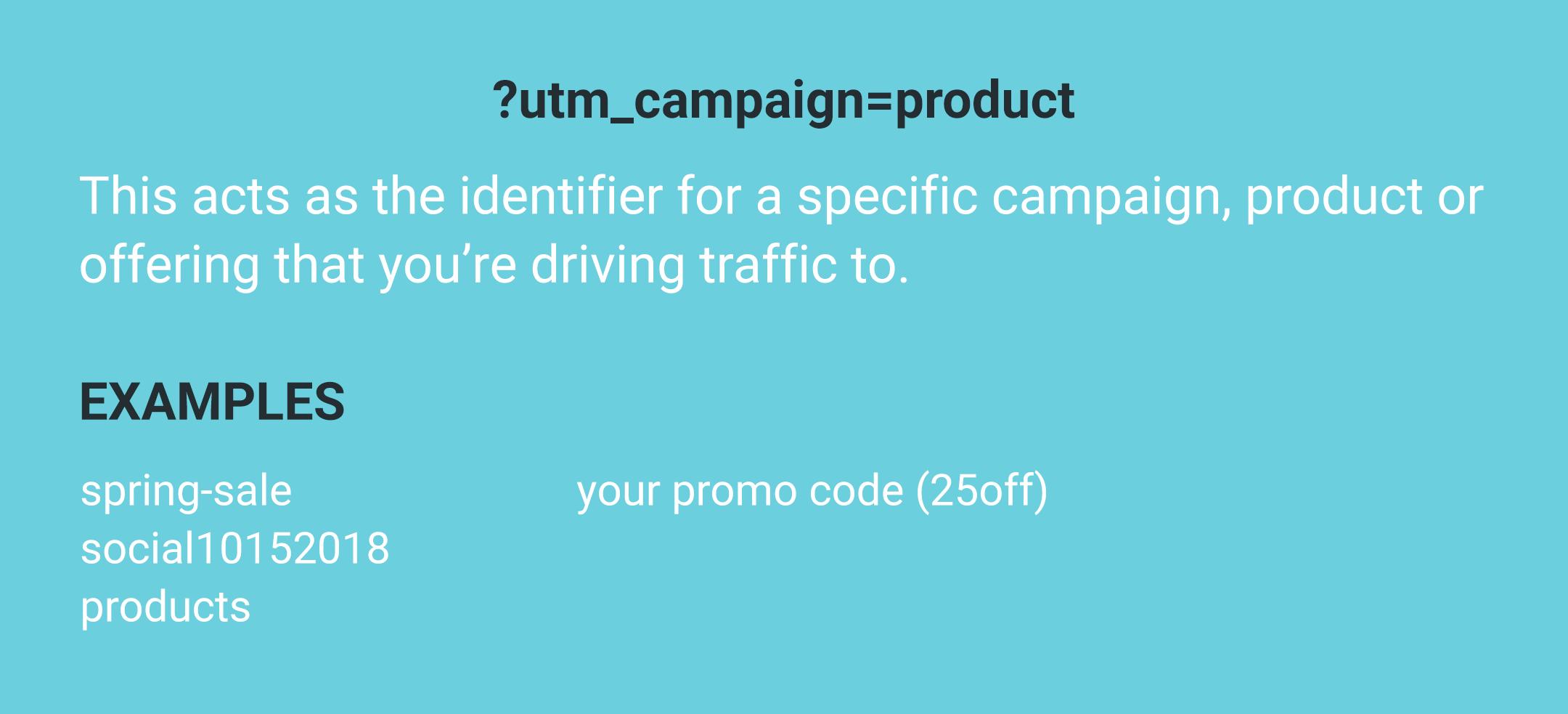 UTM campaign parameter examples