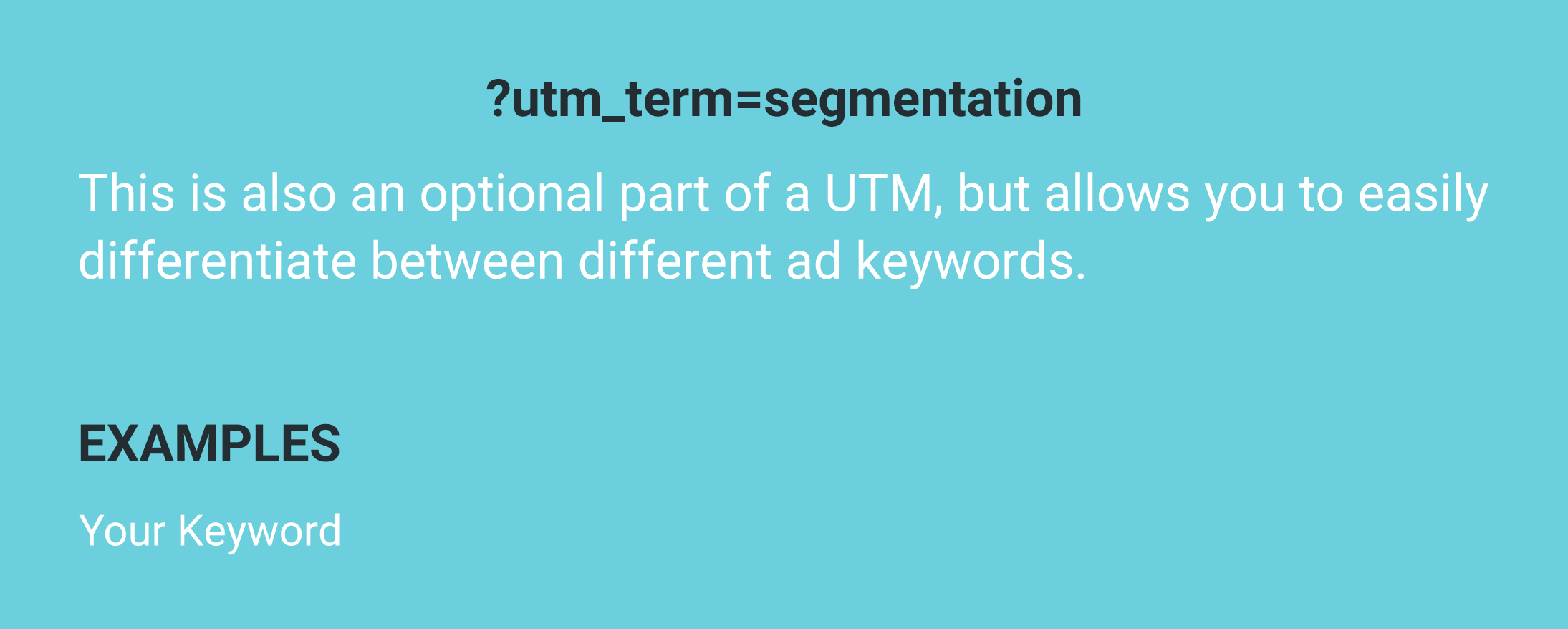 utm term example keyword