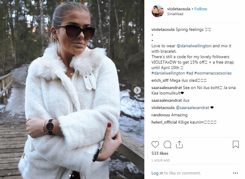 Daniel Wellington instagram social media marketing goal